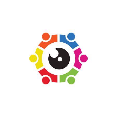 Photographi / Camera Group Logo Icon Vector