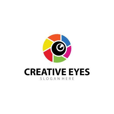 Creative Eyes Vector Logo Design Vettoriali