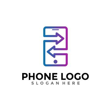 Mobile Phone Logo Design Template. Creative Smartphone Logo Vector.