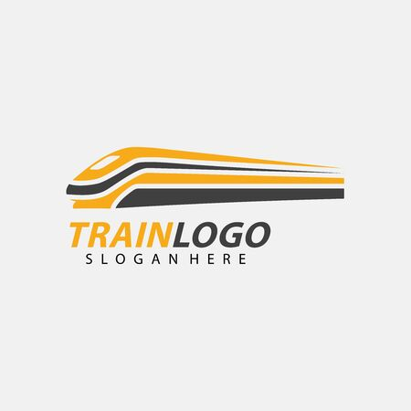 Train Logo Vector. Creative railroad icon design Archivio Fotografico - 149453315