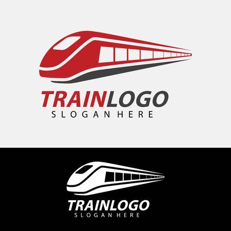 Train Logo Vector. Creative railroad icon design Archivio Fotografico - 149453317