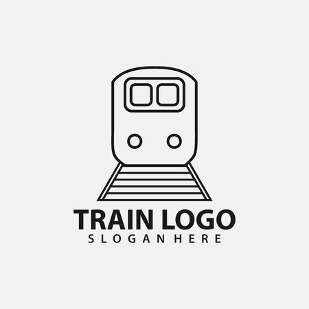 Train Logo Vector. Creative railroad icon design Archivio Fotografico - 149453319
