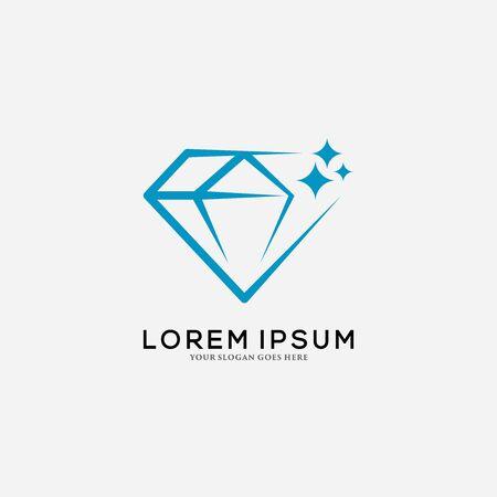 Diamond Logo Design Template. Vector illustration. Archivio Fotografico - 149453321