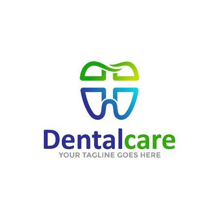 Dental Care Logo Vector. Creative Dentist Logo. Dental Clinic Logo Design for Medical Business / Company. Archivio Fotografico - 149453345