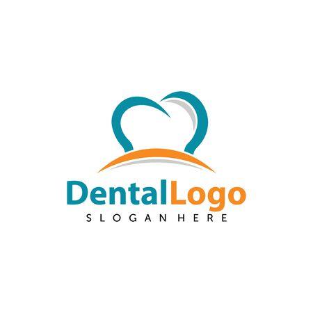Dental Care Logo Vector. Creative Dentist Logo. Dental Clinic Logo Design for Medical Business / Company.