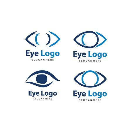 Set of Eye logo vector. Eye Clinic / Ophthalmologists icon, symbol, illustration design template Archivio Fotografico - 149453351