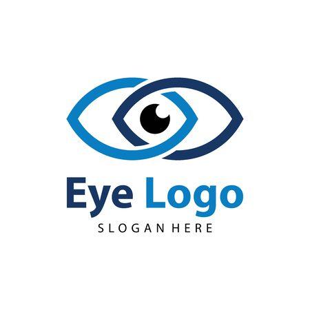 Eye logo vector. Eye Clinic / Ophthalmologists icon, symbol, illustration design template