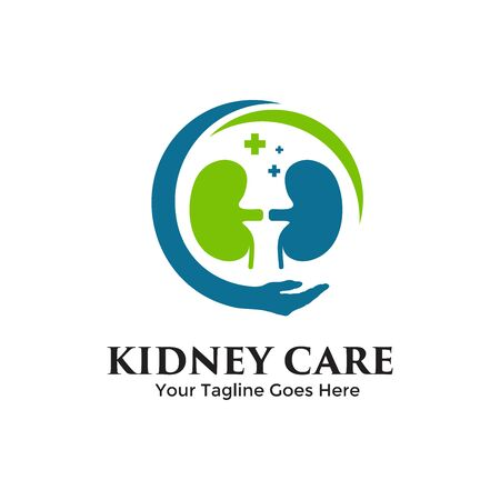 Kidney Care logo vector. Urology icon design template inspiration. Archivio Fotografico - 149453362