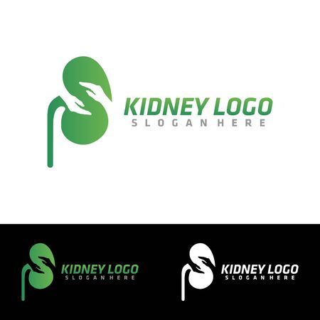 Kidney Care logo vector. Urology icon design template inspiration. Archivio Fotografico - 149453367