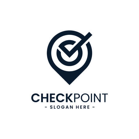Find location logo design template. City locator. Pointer and loupe or magnifier icon vector combination. Creative gps map point location symbol concept.
