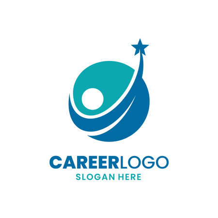 Career logo template design. Leadership logo. Growth and success concept.