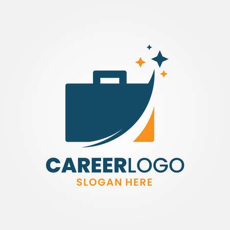 Career logo template design. Trip vacation vector illustration