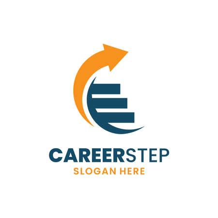 Career step logo template design. Leadership logo. Growth and success concept. Vettoriali