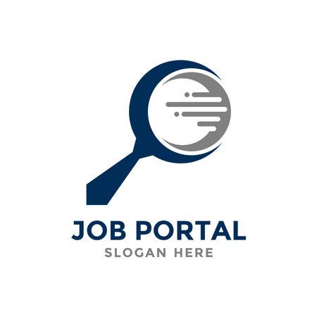 Job portal logo design template. Concept of professional employee recruitment agency logo vector