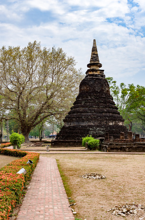 Pagoda in Sukhothai Historical Park at Thailand