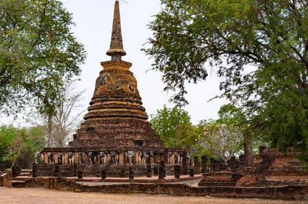 Pagode in Historisch Park Sukhothai in Thailand Stockfoto