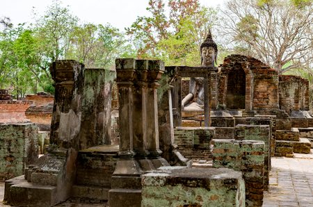 Buddha in Sukhothai Historical Park at Thailand