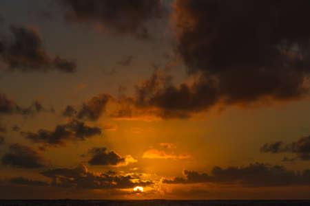 Sunrise over the Pacific Ocean as seen from Kauai