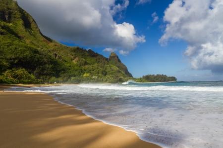 kauai: Tunnels beach at Kauai with Bali Hai in the background