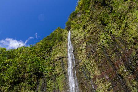 Waimuku 마우이, 하와이에 빠진다 스톡 콘텐츠
