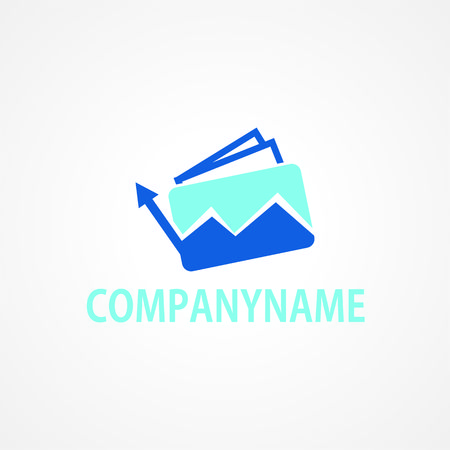 Vector symbol concept for accounting company