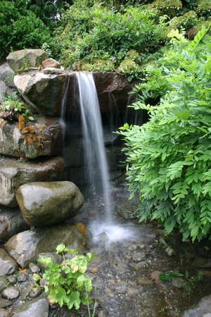 Waterfall in Japanese garden (Brooklyn Botanic Garden) photo