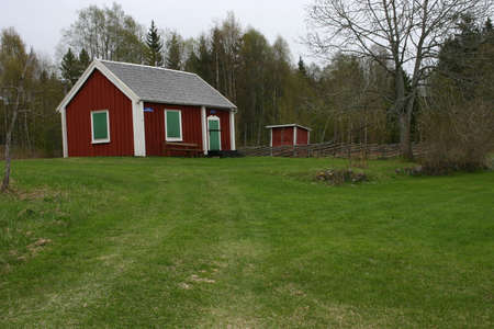 Red and white barn, Sweden Stock Photo - 571197