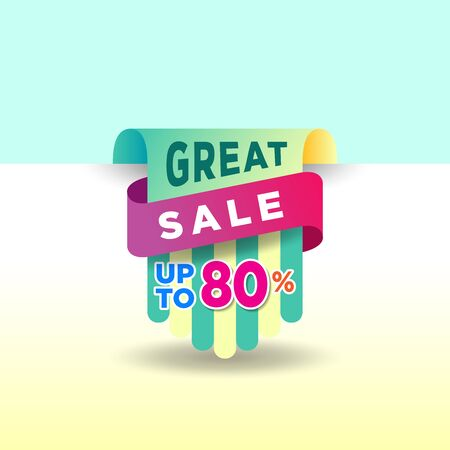 Great sale discount offer banner template promotion