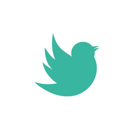 Doodle bird icon, flat design best vector