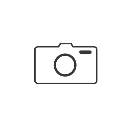 photo camera vector icon, flat design best vector