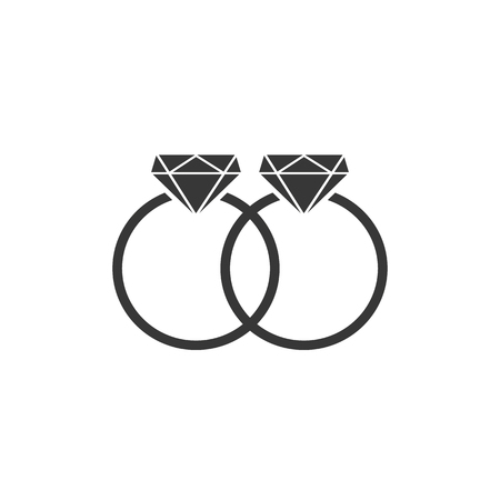 rings vector icon, flat design best vector  イラスト・ベクター素材