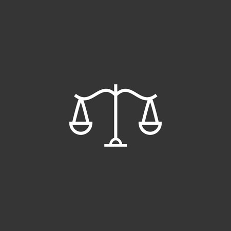 Outline Libra Icon isolated on grey background. Modern simple flat symbol for web site design, app, UI. Editable stroke  イラスト・ベクター素材