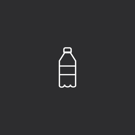 Outline Soda Bottle Icon isolated on grey background. Modern simple flat symbol for web site design, app, UI. Editable stroke  イラスト・ベクター素材