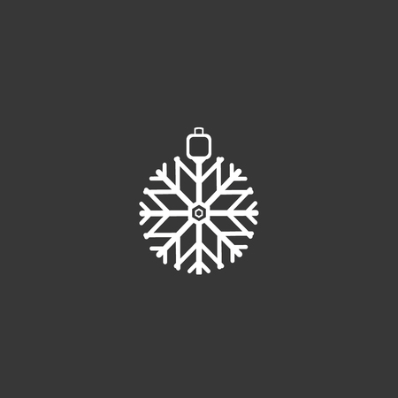 Outline Snowflake Icon isolated on grey background. Modern simple flat symbol for web site design, app, UI. Editable stroke.