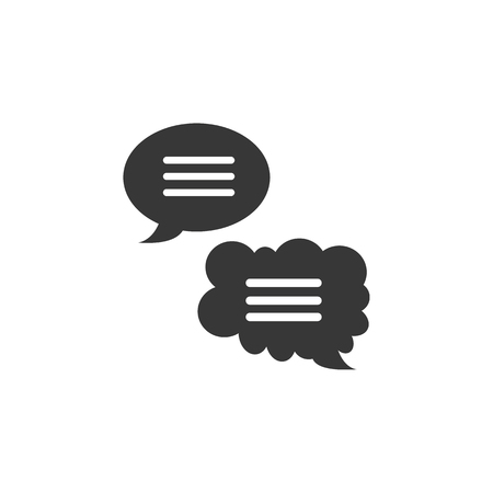 speech bubble icon. high quality filled speech bubble icon on white background. from marketing collection flat trendy vector speech bubble symbol.