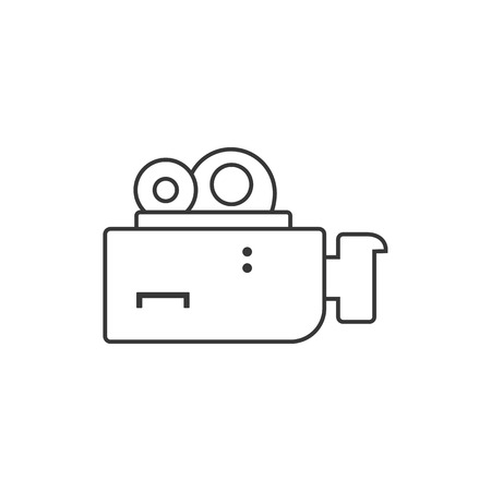 film camera icon. high quality line film camera icon on white background. from cinema collection flat trendy vector film camera symbol.  イラスト・ベクター素材