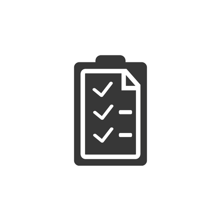 checklist icon. high quality filled checklist icon on white background. from marketing collection flat trendy vector checklist symbol.  イラスト・ベクター素材