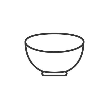 bowl line icon Illustration