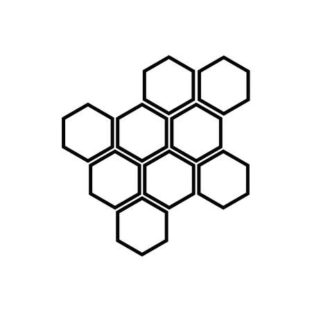 Honeycomb honey comb icon