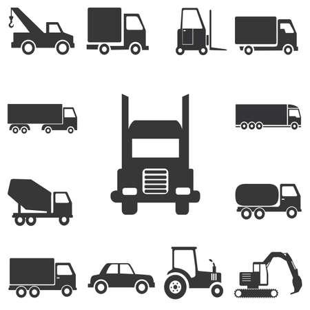 Transport icons universal set