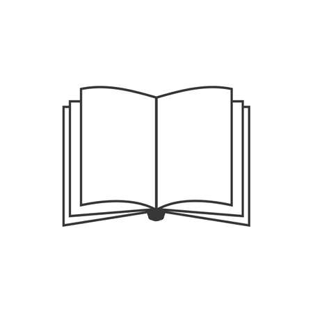 Book icon isolated on whitebackground, flat design best vector
