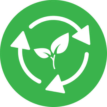 Biodegradable recyclable plastic free package icon