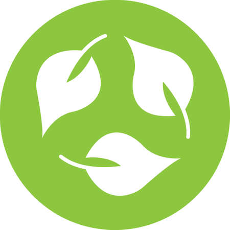 recycling leaf icon illustration
