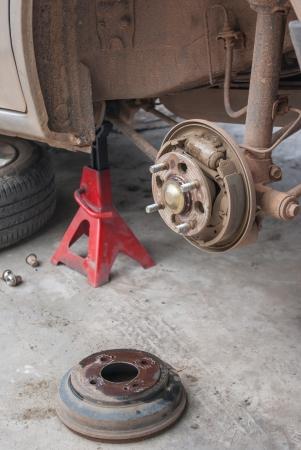 Drump brake repairing for car photo
