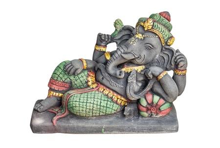 Hindu God Ganesh over a white background Stock Photo - 21946284