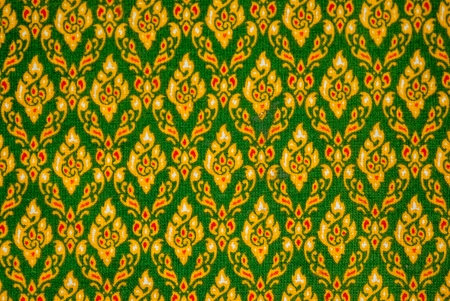Thai art pattern background on Thai clothes  photo