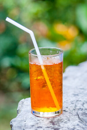 iced tea: tall glass of cold iced tea