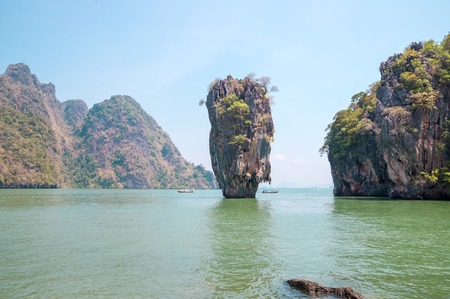 Ko Tapu rock on James Bond Island, Phang Nga Bay, Thailand photo