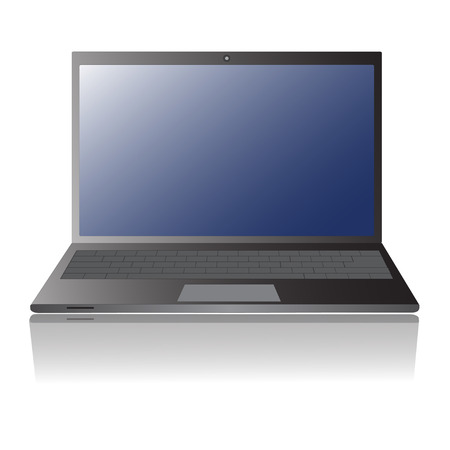 Laptop isolation with blank display vector. Vector