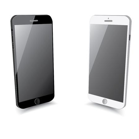 Smartphone black and white colour. Vector
